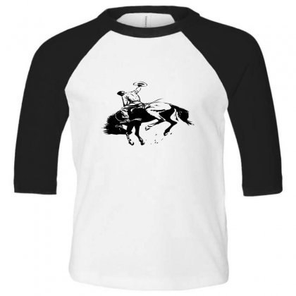 Cowboy Action Taming The Horse Toddler 3/4 Sleeve Tee Designed By Acoy