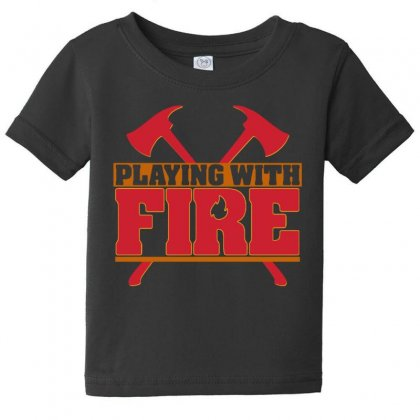 Playing With Fire Movie Logo Baby Tee Designed By Cahayadianirawan
