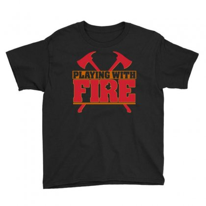 Playing With Fire Movie Logo Youth Tee Designed By Cahayadianirawan