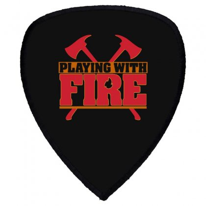 Playing With Fire Movie Logo Shield S Patch Designed By Cahayadianirawan