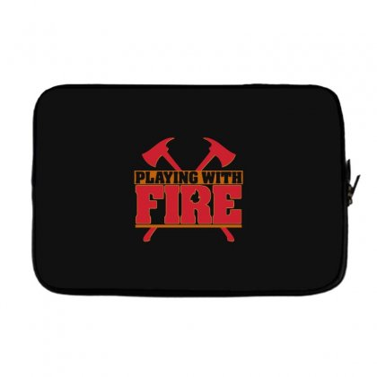 Playing With Fire Movie Logo Laptop Sleeve Designed By Cahayadianirawan