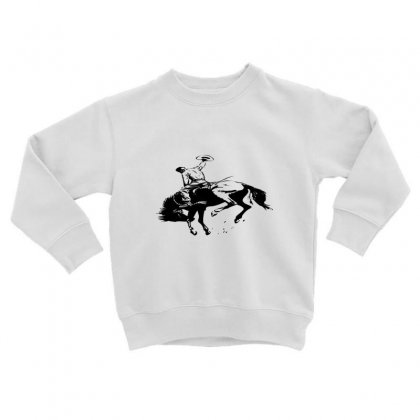 Cowboy Action Taming The Horse Toddler Sweatshirt Designed By Acoy