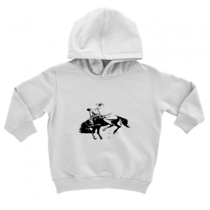 Cowboy Action Taming The Horse Toddler Hoodie Designed By Acoy