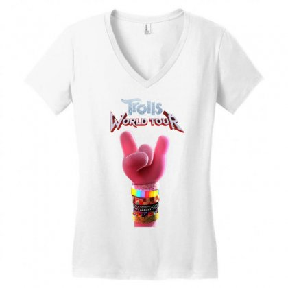 Trolls World Tour Logo Women's V-neck T-shirt Designed By Cahayadianirawan