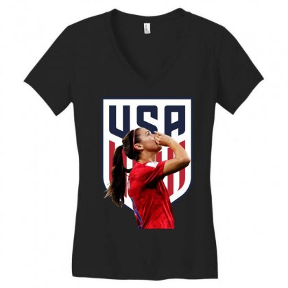 Alex Morgan Usa Soccer Team Best Women's V-neck T-shirt Designed By Cahayadianirawan