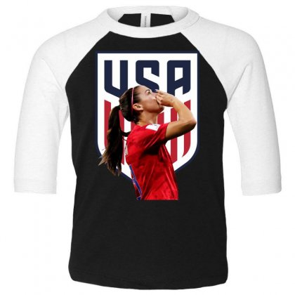 Alex Morgan Usa Soccer Team Best Toddler 3/4 Sleeve Tee Designed By Cahayadianirawan