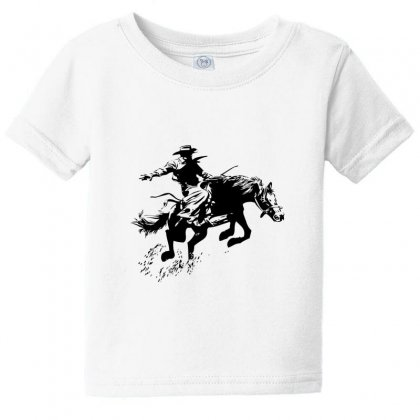 Cowboy Action Baby Tee Designed By Acoy