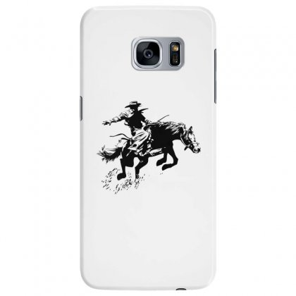 Cowboy Action Samsung Galaxy S7 Edge Case Designed By Acoy