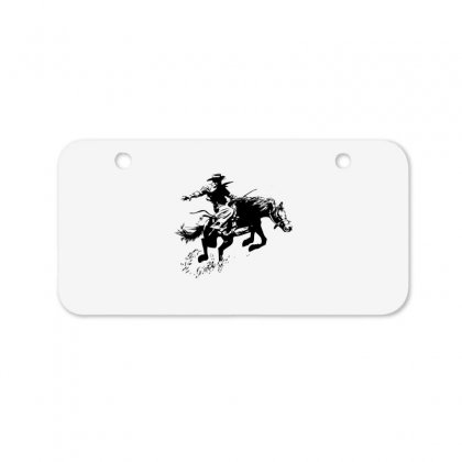 Cowboy Action Bicycle License Plate Designed By Acoy