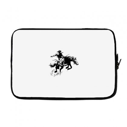 Cowboy Action Laptop Sleeve Designed By Acoy