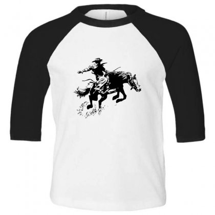 Cowboy Action Toddler 3/4 Sleeve Tee Designed By Acoy
