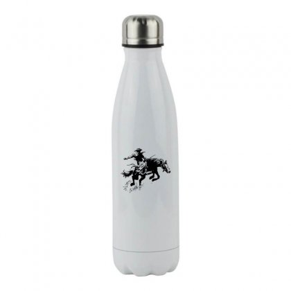Cowboy Action Stainless Steel Water Bottle Designed By Acoy