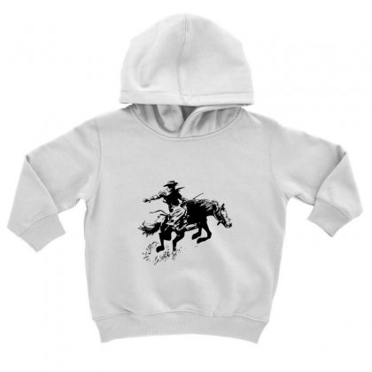 Cowboy Action Toddler Hoodie Designed By Acoy