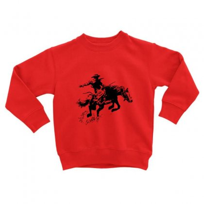 Cowboy Action Toddler Sweatshirt Designed By Acoy