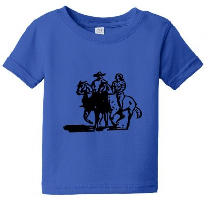 Cowboy Couple Baby Tee Designed By Acoy