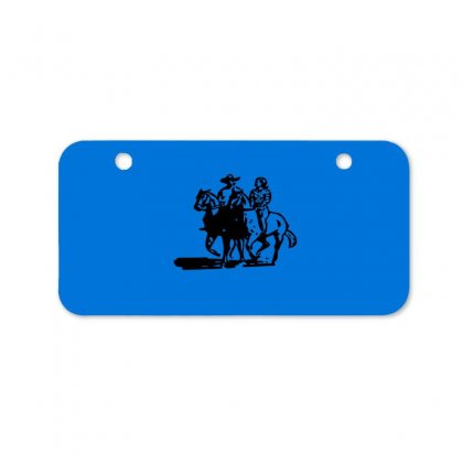 Cowboy Couple Bicycle License Plate Designed By Acoy