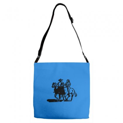 Cowboy Couple Adjustable Strap Totes Designed By Acoy