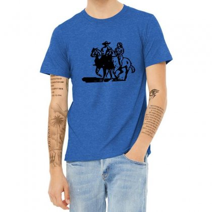 Cowboy Couple Heather T-shirt Designed By Acoy