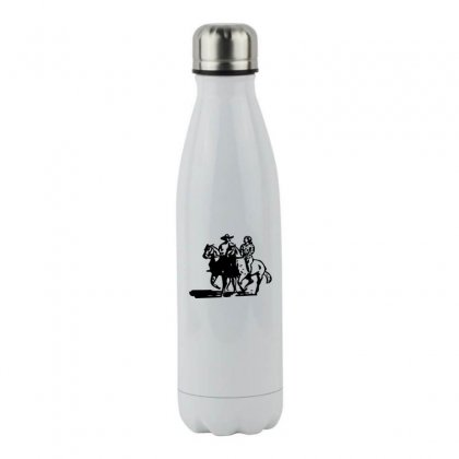 Cowboy Couple Stainless Steel Water Bottle Designed By Acoy