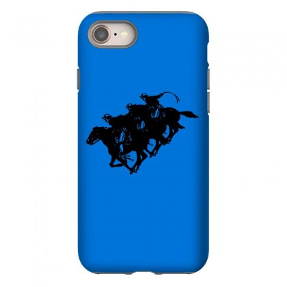 Cowboy Horse Racing Iphone 8 Case Designed By Acoy