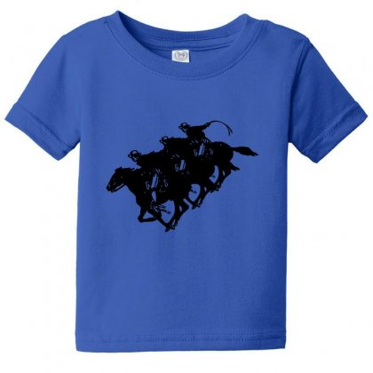 Cowboy Horse Racing Baby Tee Designed By Acoy