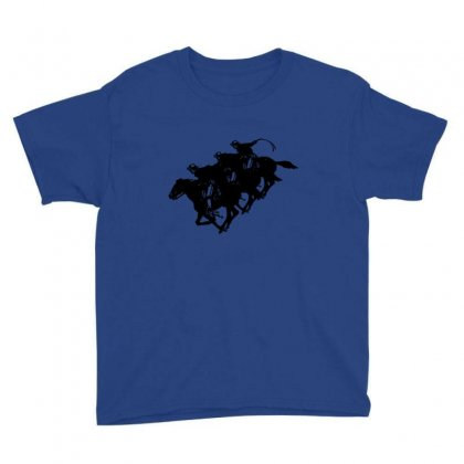 Cowboy Horse Racing Youth Tee Designed By Acoy