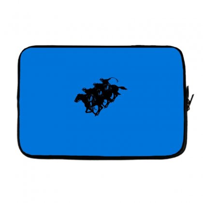 Cowboy Horse Racing Laptop Sleeve Designed By Acoy