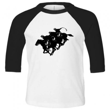 Cowboy Horse Racing Toddler 3/4 Sleeve Tee Designed By Acoy