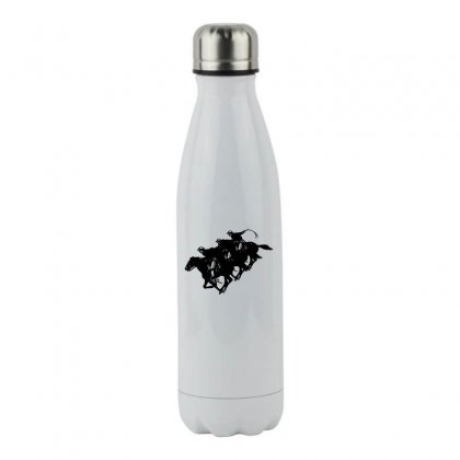 Cowboy Horse Racing Stainless Steel Water Bottle Designed By Acoy