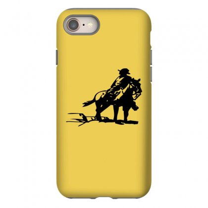 Cowboy Style On A Horse Iphone 8 Case Designed By Acoy