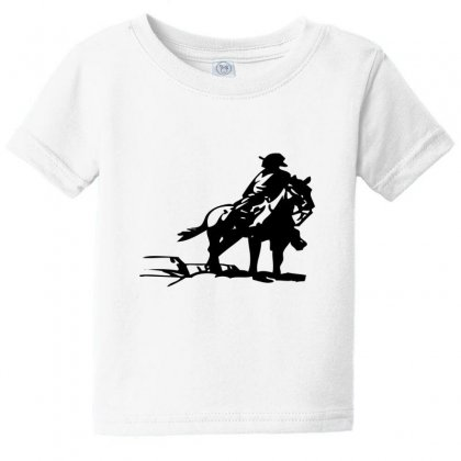 Cowboy Style On A Horse Baby Tee Designed By Acoy