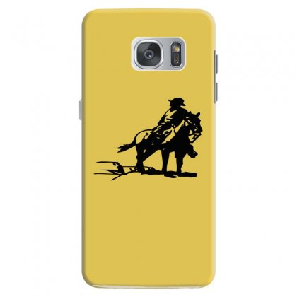 Cowboy Style On A Horse Samsung Galaxy S7 Case Designed By Acoy
