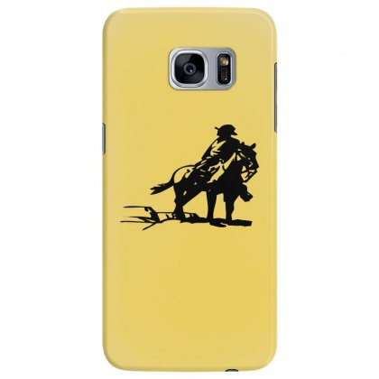 Cowboy Style On A Horse Samsung Galaxy S7 Edge Case Designed By Acoy