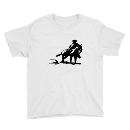 Cowboy Style On A Horse Youth Tee Designed By Acoy