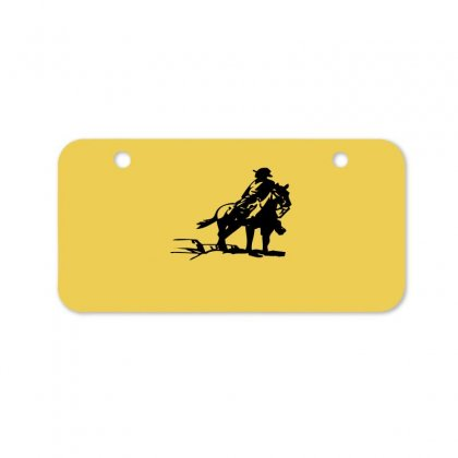 Cowboy Style On A Horse Bicycle License Plate Designed By Acoy
