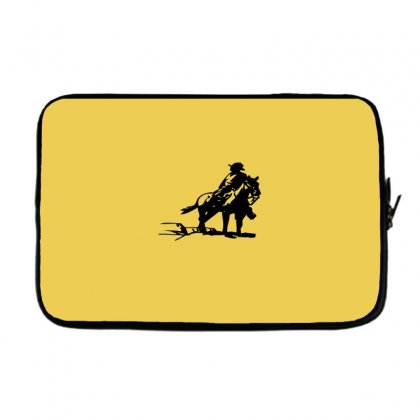 Cowboy Style On A Horse Laptop Sleeve Designed By Acoy