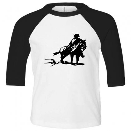 Cowboy Style On A Horse Toddler 3/4 Sleeve Tee Designed By Acoy