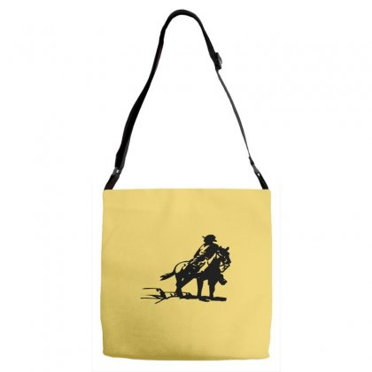 Cowboy Style On A Horse Adjustable Strap Totes Designed By Acoy