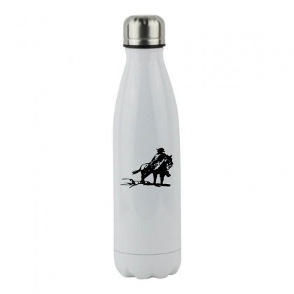 Cowboy Style On A Horse Stainless Steel Water Bottle Designed By Acoy