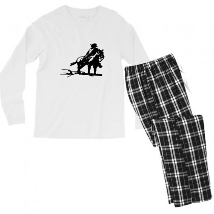 Cowboy Style On A Horse Men's Long Sleeve Pajama Set Designed By Acoy