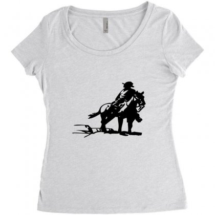 Cowboy Style On A Horse Women's Triblend Scoop T-shirt Designed By Acoy