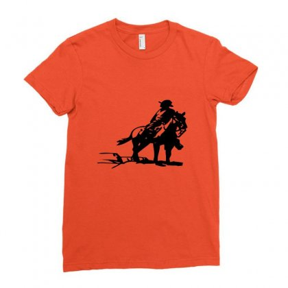 Cowboy Style On A Horse Ladies Fitted T-shirt Designed By Acoy