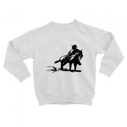 Cowboy Style On A Horse Toddler Sweatshirt Designed By Acoy