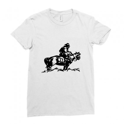 Cowboy Trip Ladies Fitted T-shirt Designed By Acoy