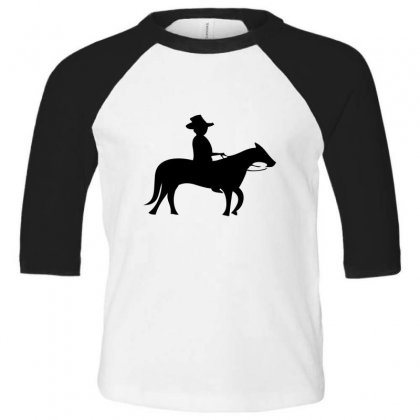 Little Cowboy Toddler 3/4 Sleeve Tee Designed By Acoy