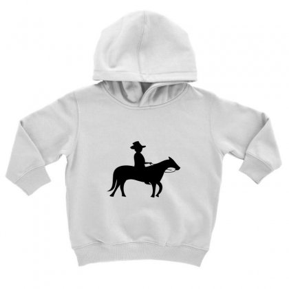 Little Cowboy Toddler Hoodie Designed By Acoy