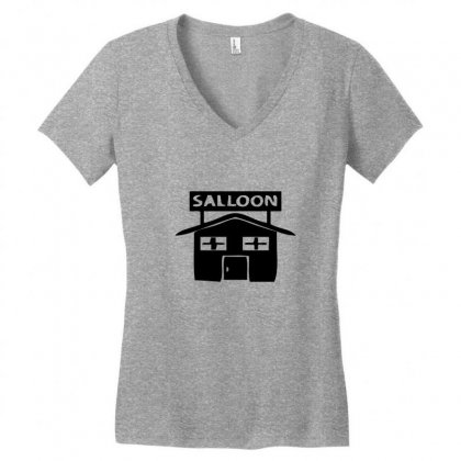 Salloon Women's V-neck T-shirt Designed By Acoy