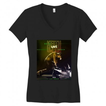 Live Keith Urban Concert At Las Vegas Women's V-neck T-shirt Designed By Cahayadianirawan