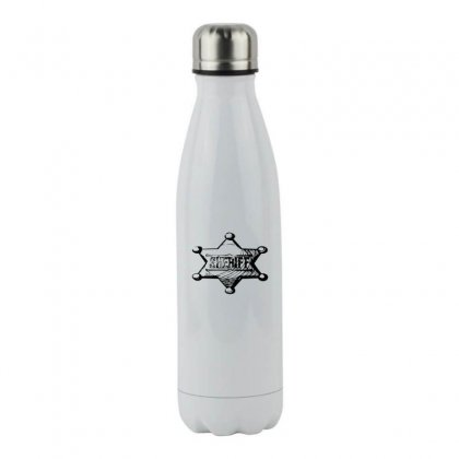 Sheriff Stainless Steel Water Bottle Designed By Acoy