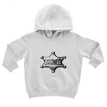 Sheriff Toddler Hoodie Designed By Acoy